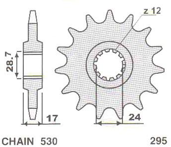 Предни пиньони за мотоциклет №295