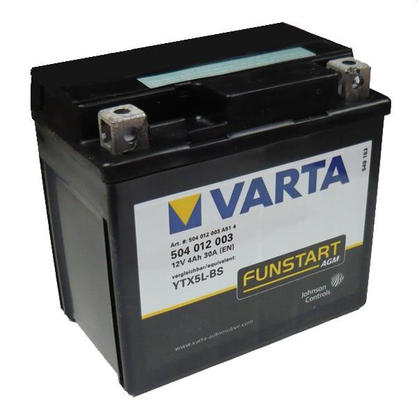 Акумулатор YTX5L-BS VARTA