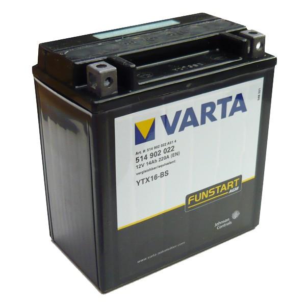 Акумулатор YTX16-BS VARTA