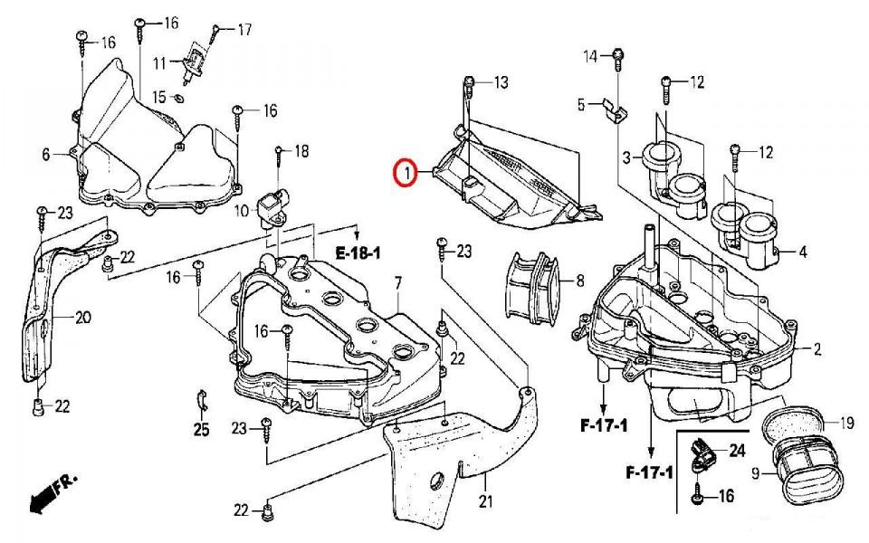 Въздушен филтър за HONDA 17210-MEE-000